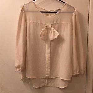 Cream Forever 21 Blouse