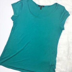 Eileen Fisher Teal Silk T-shirt