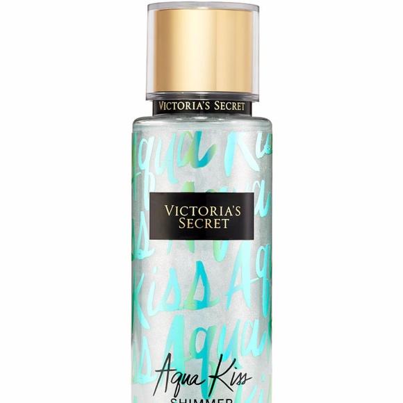 e7c248e6edce4 VICTORIA'S SECRET BODY MIST Aqua Kiss Shimmer NIB NWT