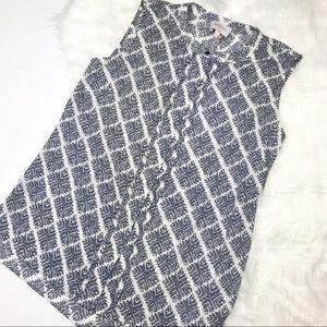 NWT Laundry by Shelli Segal Inkblot Sleeveless Top