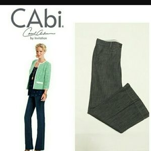 CAbi 183 Dark-wash High Waist Wide Leg Trousers