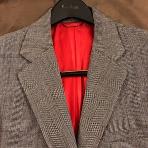 Other - Grey, Red & Black Glenn Plaid Sport Coat 40R