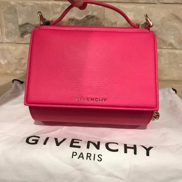 Givenchy Bags   Pandora Box Pink Leather Gold Chain   Poshmark acba8c413c
