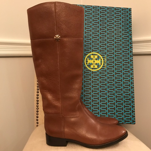 a16594f6e52 Tory Burch Jolie Riding Boots Rustic Brown 10. M 5a24bd2ba88e7da24b0acc39