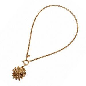 Authentic Vintage Chanel Lion Pendant Necklace