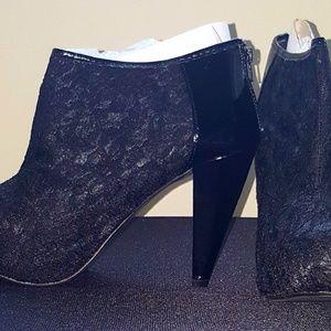 Torrid Black Lace Ankle Booties