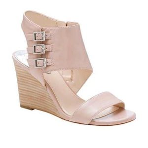{vince camuto} Lyssia wedge sandals in Sandbar