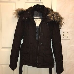 Abercrombie Brown Puffer Jacket