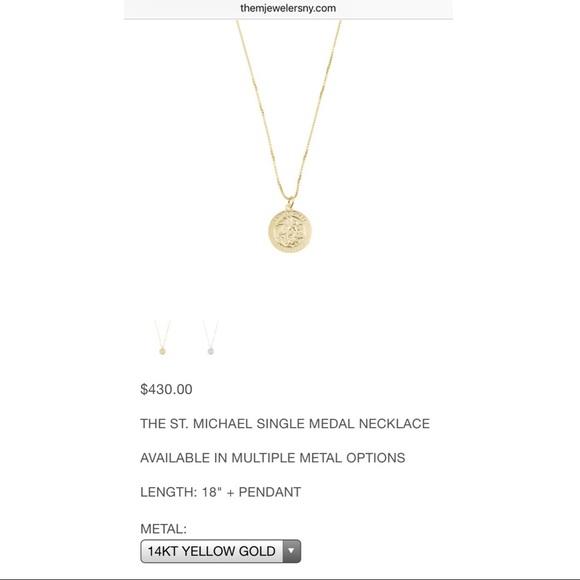14k gold st michael pendant w 18 in chain poshmark 14k gold st michael pendant w 18 in chain aloadofball Gallery
