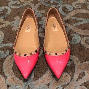 Valentino Rockstud Pink Flats