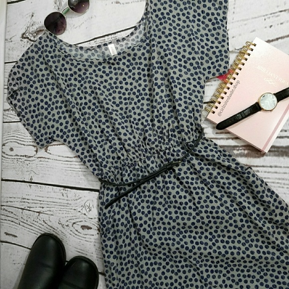 Xhilaration Dresses & Skirts - Belted polka dot dress