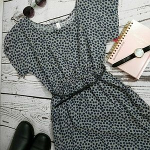 Xhilaration Dresses - Belted polka dot dress