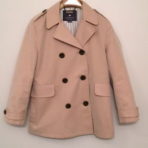 Gryphon 3/4 sleeve short trench style jacket