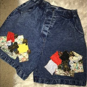 Vintage High Waisted Patch Shorts