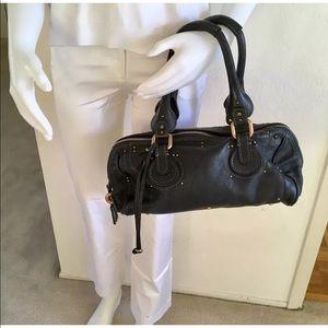 CHLOE Black Leather Paddington Small Satchel