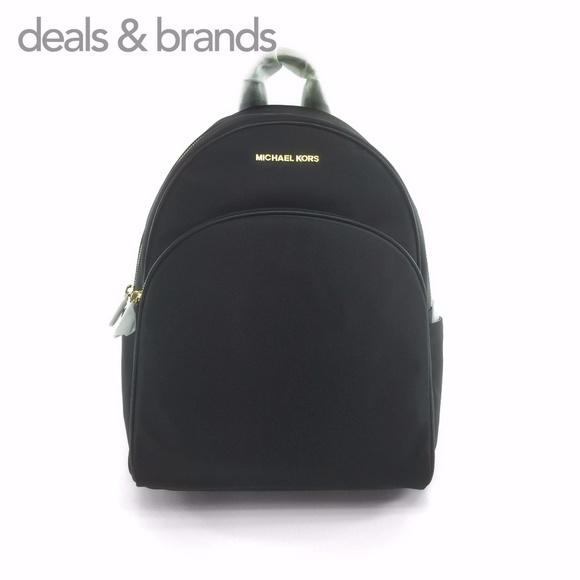28797a9a198c NWT MICHAEL KORS Abbey Nylon Large Backpack Black