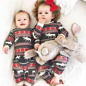 Christmas Pajamas Winter Holidays Little Boy Girl