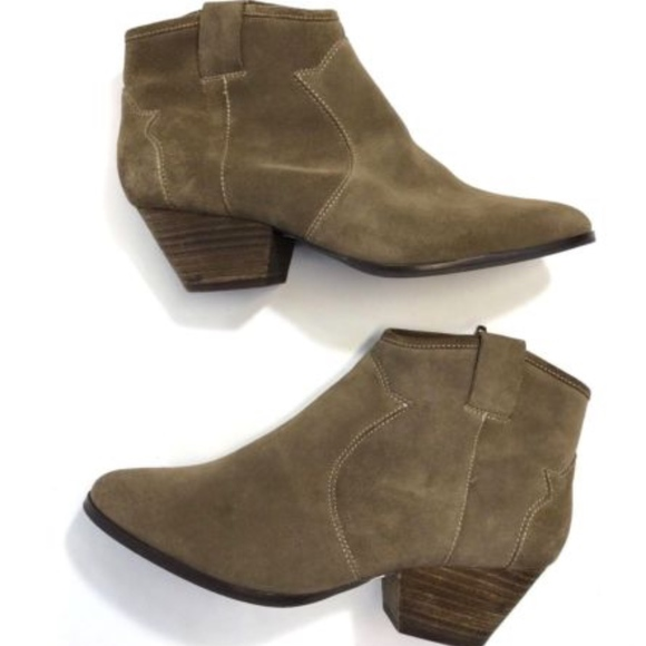Topshop Womens Ankle Boots Suede Taupe