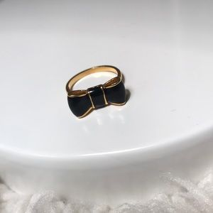 Black & Gold Kate Spade Bow Ring