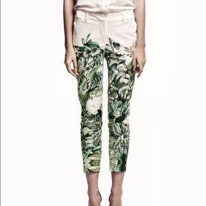 NEW H&M Conscious Satin Floral Trousers