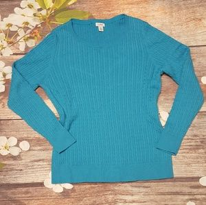 LL.Bean cable knit sweater