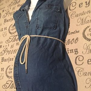 Maternity denim dress size large
