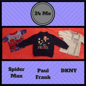 3pc Bundle Paul Frank DKNY Spiderman 24 MO