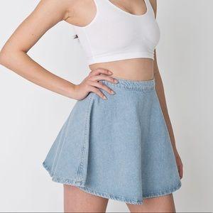 American Apparel denim circle skirt large