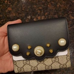 d359629eeed98a Gucci Bags | Peony Gg Supreme French Flap Wallet | Poshmark