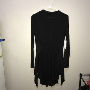 Tobi Knee-Length Black Knotted Dress