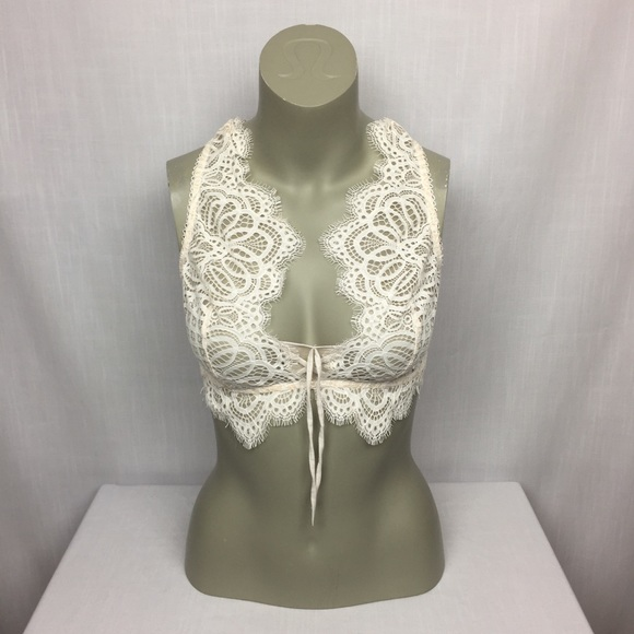 acca1eb9d27849 Victoria s Secret Dream Angels Lace Up Bralette M