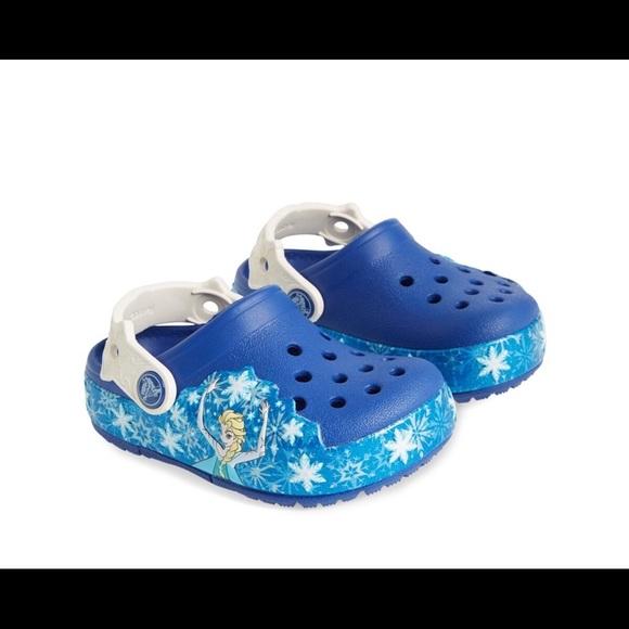 384c80d54d8350 CROCS Other - Crocs Disney Frozen Elsa Light-up Clog