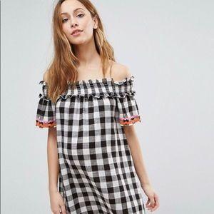 Asos maternity gingham dress