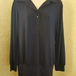 Like new Allegra K collared long sleeve blouse Lg
