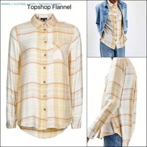 NWT Topshop ~ Drapey Plaid Flannel