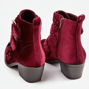 JustFab Shoes - Velour Bootie