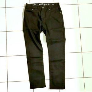Solid black Mossimo jeans slim stretchy
