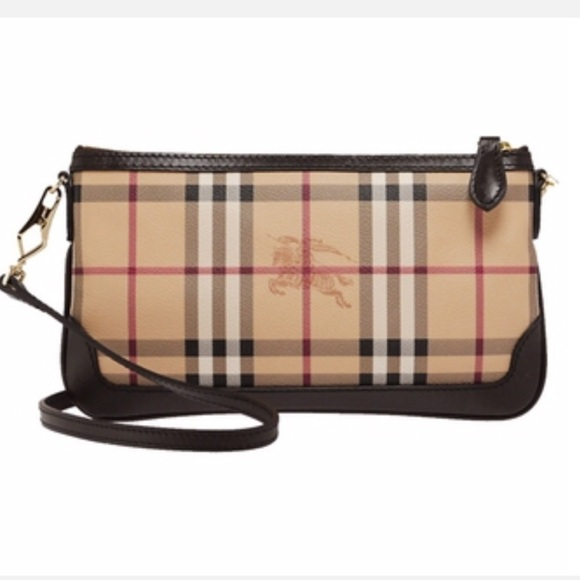 256f9db65443 Burberry Handbags - Burberry Peyton - Haymarket Check Crossbody Bag
