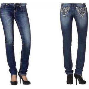 MissMe SignatureStraight Jeans 28x331/2western