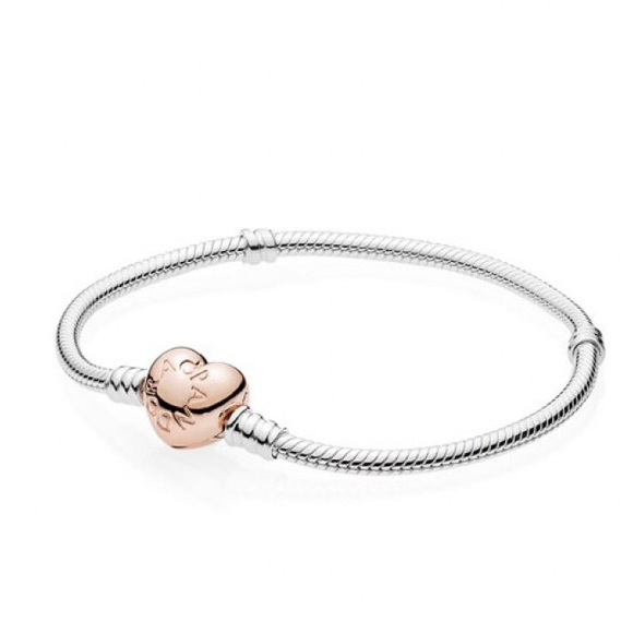 b91ee04a5 Pandora Jewelry | New Rose Gold Heart Clasp Bracelet | Poshmark