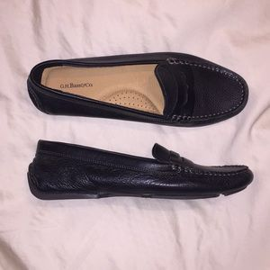 Black Leather Bass Missy Loafer / Driver