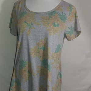 Lularoe womans shirt size large gray floral