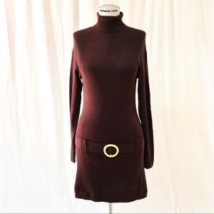 INC Brown Sweater Dress