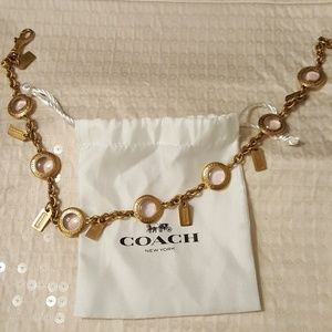 Authentic  coach necklace