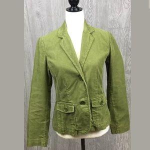 💐Boden  Womens Size 10 Green Corduroy Jacket