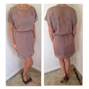 Nordstrom mocha cutout short sleeved dress