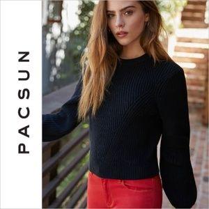 Pacsun LA Hearts Black Balloon Pullover Sweater