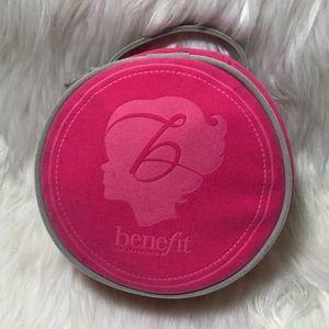 Benefit Pink Round Make Up Case