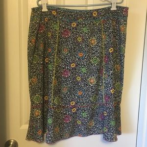 SAG HARBOR  multi colored skirt with flowers
