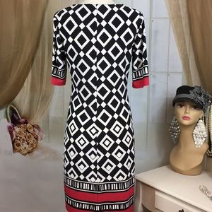 R&K Dresses - R&K Diamond Print Dress